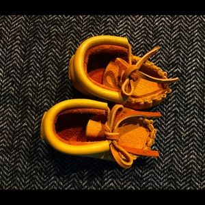 First Nations hand crafted baby moccasins